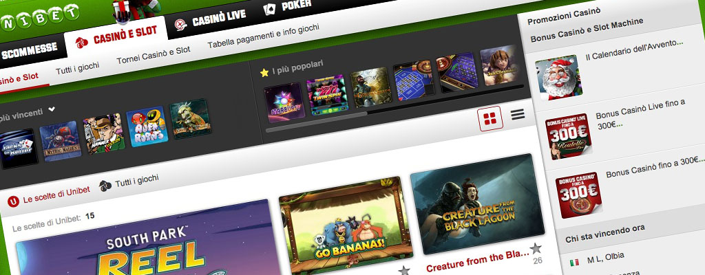 Unibet - Scommesse Casino e Slot Machine