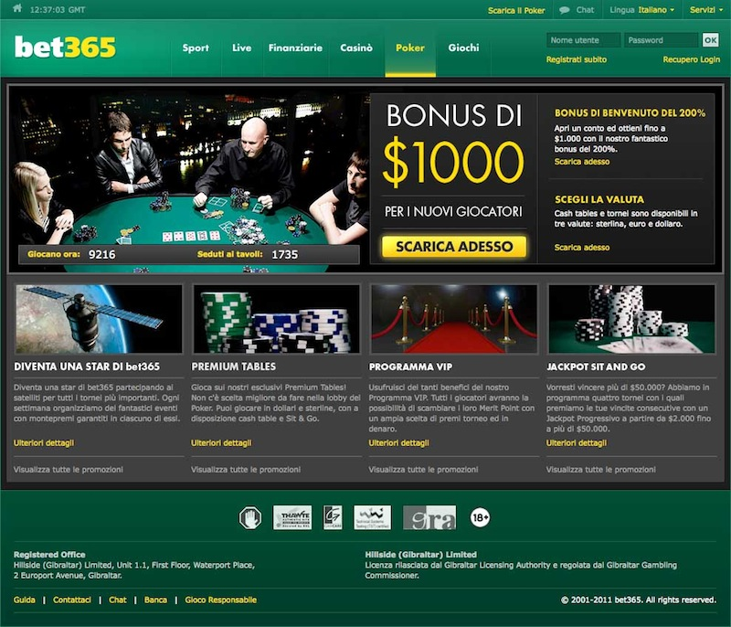bet365 sport casino vegas poker